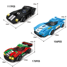 Hot Fast Furious speed Championships building block racing driver figures super sports car model bricks toys for kids gifts(China)