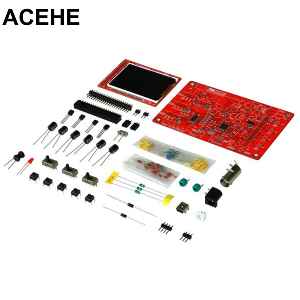 2017 New Digital Oscilloscope Kit DSO138 2.4 TFT Digital Oscilloscope Kit DIY Parts With Charger Electronic<br><br>Aliexpress