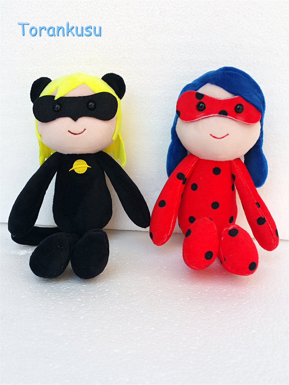 Miraculous Ladybug Plush Dolls Ladybug Cat Noir Soft Stuffed Plush Toy Doll Lady Bug Adrien Marinette Plush Dolls christmas Gift