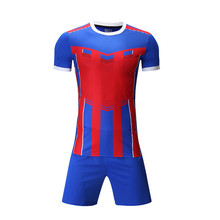 New Arrival Men Soccer Jerseys Set Survetement Football 2017 Training Futbol Kit Short Sleeved Sport Suits Uniforms DIY Design(China)
