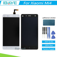 For xiaomi mi 4 m4 mi4 LCD Display + Touch Screen Digitizer Replacement cell phone Assembly White Or Black