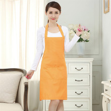 60x70cm Kitchen Apron Cooking Apron for Woman Kitchen Chef Butcher Waiter Restaurant Cooking Baking Art Work Dress 2 Pockets