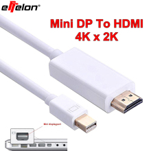 Effelon Mini DP 4Kx2K Thunderbolt Mini DisplayPort To HDMI HDTV AV TV 4K Resolution 3D Adapter Cable For iMAC/MacBook Pro Air