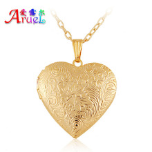 ARUEL Fashion Heart Classic Photo Simple Chain Necklaces & Pendants Lover Gift Women Girl Romantic Locket Popular Jewelry Gifts
