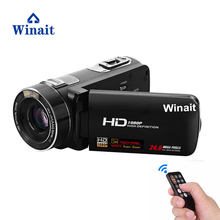 Winait Full hd 1080p digital video camera with 3.0'' touch display, MINI dv 10x optical zoom, 120x digital zoom free shipping(China)