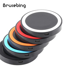 Brucebing Multi Color Portable Universal Qi Wireless Power Charging Charger Pad For Mobile Phone for iPhone 6 7(China)