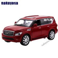 High Simulation Exquisite Collection Baby Toys CaiPo Car Styling Infiniti QX56 Model 1:34 Alloy SUV Car Model Best Gifts