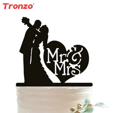 Tronzo New Romantic Wedding Cake Topper Acrylic MR MRS Lovely Wedding Decoration Cake Accessory Table Decor(China)