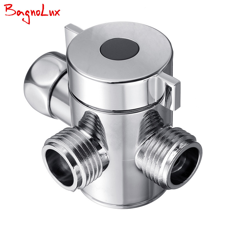 "Bagnolux Handheld Shower and Shower Head Shower Arm 3-Way Diverter G1/2"" Three Function Switch Adapter Valve for Toilet Bidet(China (Mainland))"