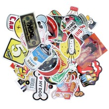 50pcs Mixed Car Stickers on Motorcycle Suitcase Home Decor Phone Laptop Covers DIY Vinyl Decal Sticker Bomb JDM Car styling(China)