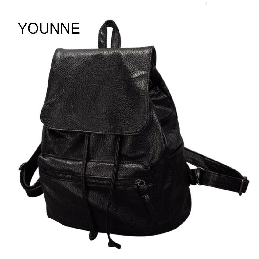 YOUNNE Woman bag Fashion Girl Backpack Designer Brand Backpack Leather School Bag Travel Backpack Satchel ladies Shoulder Bags<br>