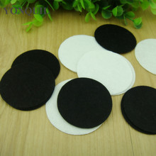 DIY 80MM White And Black Round Felt fabric Pads Accessory Patches Circle Felt Pads Fabric DIY Flower Accessories 500PCS/Lot(China)