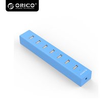 New ORICO USB HUB 7 Port USB 2.0 HUB Portable Splitter for Windows XP / Vista / 7 / 8 / 10 / Linux / Mac OS H7013-U2-03-BL(China)