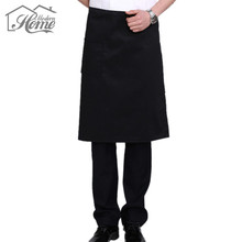 Adjustable Chef Waiter Aprons Black Bib Apron Cooking Kitchen Work Dining Baking BBQ Art work Aprons Antifouling Wear DIY