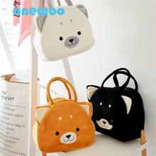 Cartoon Three-Color Akita Inu Dog Satchel Plush Toys Kawaii Lovely Mummy Shopping Bag Cute Animal Dog Toy Friend Birthday Gift