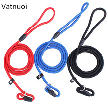 High quality 3 color brand new Nylon Dog Leash Training Dog P Leash Lead Strap Collar for S M L pet