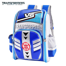 TRANSFORMERS cartoon safety orthopedic school bag books bag shoulder backpack portfolio for boys Grade 1-4