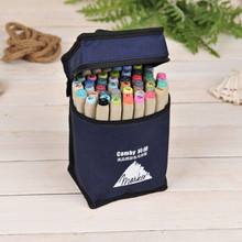 12/30/40/60 Colors Mark Pen Animation Design Paint Sketch Pen Markers Drawing Stationery Artist Double Headed Marker Set(China)