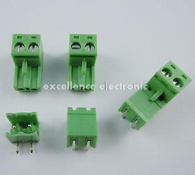 100 Pcs 5.08mm Pitch Right Angle 2 pin 2 way Screw Terminal Block Plug Connector 2EDG<br><br>Aliexpress