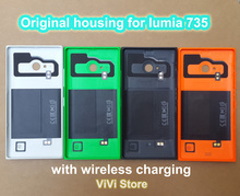 Less but better Genuine Back Cover for Nokia lumia 735 Original Housing Door Battery Cover Case for lumia 735(China)