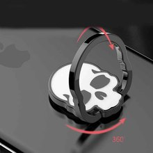 Skeleton Head Finger Ring 360 Degree Mobile Phone Ring Bracket Custom Ring For iPhone 7 iPad2 Samsung S8 Edge All Smart Phone(China)