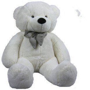 stuffed animal plush 80cm cute teddy bear white plush toy throw pillow w946(China)