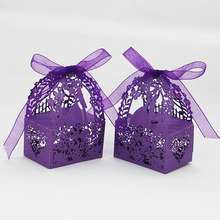 20PCS/lot 6 Color Candy Box Laser Cut DIY Gift Wedding Candy Box Party Wedding Favor Boxes Wonderful Gift Box Wedding Decoration(China)