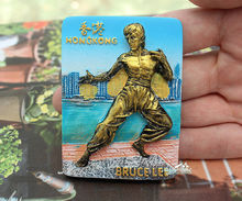 HONG KONG, BRUCE LEE, Tourist Travel Souvenir 3D Resin Decorative Fridge Magnet Craft GIFT IDEA