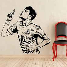 2017 NEW Neymar Wall Decal Football Player Barcelona Vinyl Sticker Decor Mural size 56*58cm