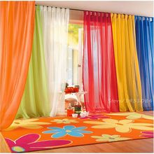 15 Colors Sheer Curtain For Living Room Window Tulle Curtains For Bedroom Home Decor Draperies Drapes Organza Tulle Curtain 1PCS(China)
