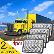 CO LIGHT 4X6 Headlight 4 Pieces 45W Daytime Running Lights H4 27W Hi Lo Led Chips 6000K for 4X4 Kenworth Foden Gmc Peterbilt(China)