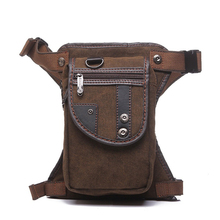 Best Sellers Multi-purpose Bags Men's Canvas Drop Leg Bag Waist Fanny Pack Belt Hip Bum Military Travel Motorcycle bag #114(China)