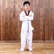 2017 children karate uniform white suit Taekwondo kick boxing Martial karate clothing kids training clothes dobok(China)