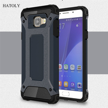 For Samsung Galaxy A5 2016 Case Heavy Duty Armor Slim Hard Tough Rubber Cover Silicone Phone Cases for Samsung A5 2016 A510F#<