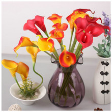 10pcs Mini Artificial Calla Lily Wedding Flowers Bouquet Calla lily Foam Decor