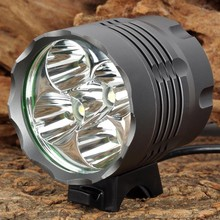 LED Bicycle Light 3200lm T6 Bike Light 3 Mode Portable LED Flashlight Lamp 5 Emitters w/ 18650 Battery Pack + Charger