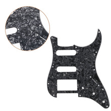 Electric Guitar Pickguard Scratch Plate for Fender Stratocaster Black Pearl(China)