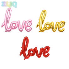 ZLJQ Brand LOVE Balloon Aluminum Foil Balloons Wedding Room Decor Layout Balloons Christmas Party Decoration Supplies 6D(China)