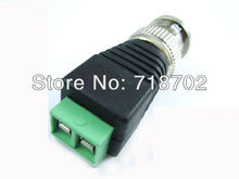 1pcs Coax CAT5 to CCTV Camera BNC Male Connector, BNC Connector Plug for CCTV Cable(China)