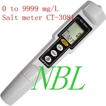 Kedida Pen Type Salt Meter High Accuracy 0-9999mg/L Waterproof Water Swimming Pool SPA Aquaculture Salinity Meter CT-3081