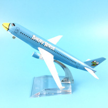 Thai Bangkok Air A320 Airways Airbus 320 Airlines Airplane Model w Stand 16cm Metal Alloy Plane Model Aircraft kids toys Gift(China)