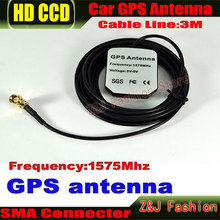 Car Gps Antenna SMA Connector Cable Length 3M Frequency 1575.42MHZ + Free shipping Hot Sale Factory Price