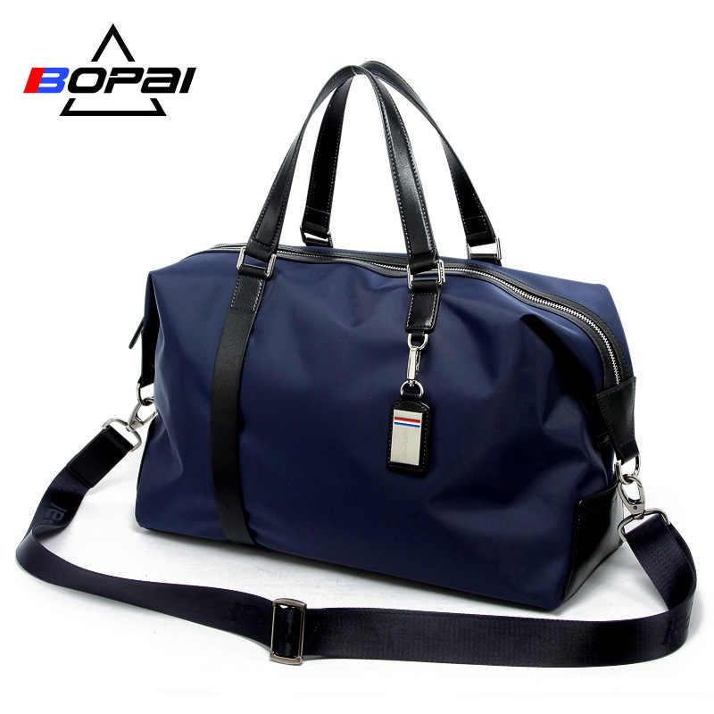 8332200bcb51 BOPAI Мужская Дорожная сумка большой емкости многоцелевая ручная сумка  через плечо дорожные сумки багажные женские непромокаемые