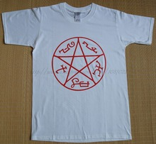 white size XS Supernatural Devil's Trap Pentagram star sign Dean Sam Winchester man cotton T-shirt(China)
