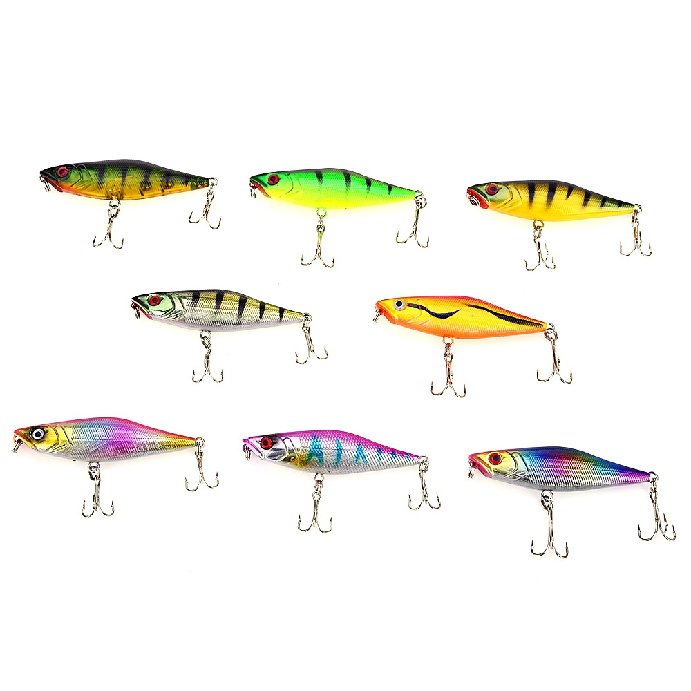 40pcs/set Simulated Bait Minnow Fishing Lure With 3 Fishing Hooks Hard Bait Fishing Lure 3D Eyes Fishing Tackle Lure With Hook<br>