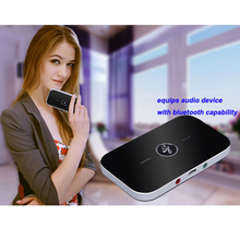 Portable 3.5mm 2 in 1 Wireless Bluetooth Receiver Audio Transmitter Music Adapter A2DP For ComputerTablet PC TV Mp3