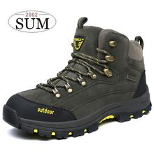 Autumn and winter boots leather waterproof man hiking boots outdoor mountain climbing shoes men snow boots brand hiking shoes