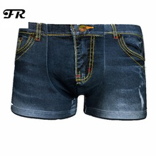 FR Novelty Cowboy Print Mens Underwear Short Boxers New Style Underpants Cotton Material