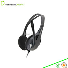 MERRISPORT Headphones with Mic, Computer Headset with Mic, Headphones with Mic, Computer Microphone, Video Chat Headsets Black(China)