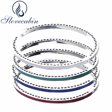 Buy Slovecabin Original 925 Silver Radiant Hearts Bracelets Bangles Female Enamel Charms Bracelets Women Silver 925 Jewelry for $25.50 in AliExpress store